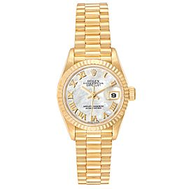 Rolex President Datejust 26 Yellow Gold MOP Dial Ladies Watch 79178