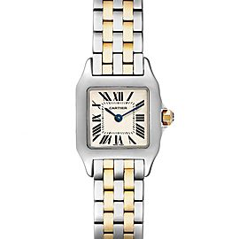 Cartier Santos Demoiselle Steel Yellow Gold Ladies Watch W25066Z6 Box