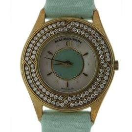 Mauboussin Ultra Thin 18K Yellow Gold Diamond 25mm Watch