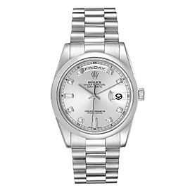 Rolex President Day-Date Platinum Diamond Mens Watch 118206