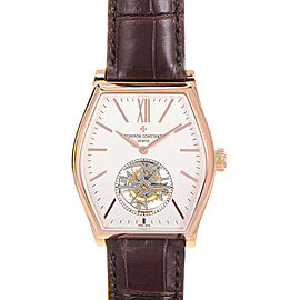Vacheron Constantin Malte 30130/000R-9754 18K Rose Gold & Brown Leather 48.24mm Mens Watch