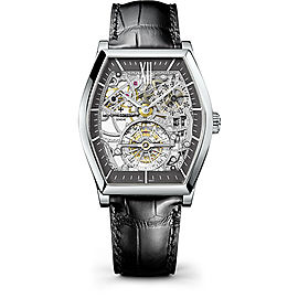 Vacheron Constantin Malte 30135/000P-9842 Platinum & Leather with Skeleton Dial 48.24mm Mens Watch
