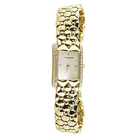 Vacheron Constantin 18K Yellow Gold wDiamond Quartz 25mm Womens Watch