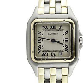 Cartier Two Tone Gold Santos Quartz 27mm Mens Watch