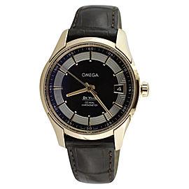 Omega Deville O43163412113001 18K Rose Gold Hour Vision Brown Dial Mens Watch