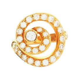 Asprey of London 18K Yellow Gold 1.15ctw. Diamond Ring Size 4.5