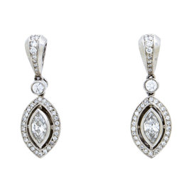 Michael Beaudry Platinum & 0.72ct Diamond Earrings