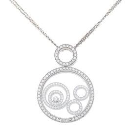 Chopard 18K White Gold Diamond Happy Spirit Pendant Necklace