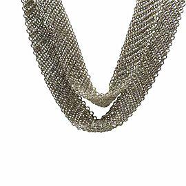 "Tiffany & Co. Peretti Sterling Silver Mesh Scarf 50"" Necklace"
