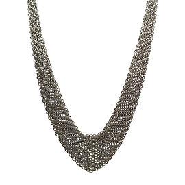 Tiffany & Co. Peretti Sterling Silver Mesh Bib Scarf Necklace