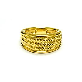 David Yurman 18K Yellow Gold Unique Cable Signature Ring