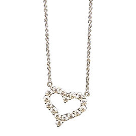 Tiffany & Co. Round Brilliant Diamond Heart Platinum Pendant Necklace