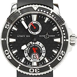 Ulysse Nardin Marine Diver Black Dial Rubber Ceramic Strap Watch