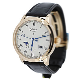 Glashutte Original Senator W10002220505 18K Rose Gold & Leather 40mm Watch