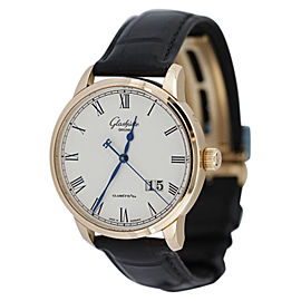Glashutte Original W10003324504 18K Rose Senator Pano Date Mens Watch