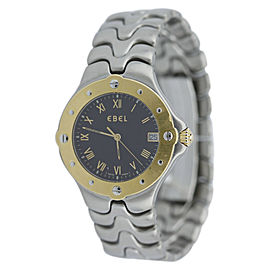 Ebel Sportwave Stainless Steel Gold Bezel Bracelet Watch