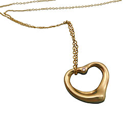 Tiffany & Co. 18K Yellow Gold Peretti Diamond Heart Necklace