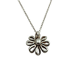Tiffany & Co. Sterling Silver & Chai Jolie Daisy Flower Necklace