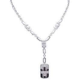 Bvlgari 18K White Gold Parentesi Diamond Necklace