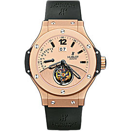 Hublot Big Bang Tourbillon 302.PI.500.RX 18K Rose Gold & Black Rubber 44mm Mens Watch