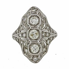 Platinum With 0.75ctw Diamond Filigree Ring