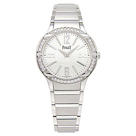 Piaget Polo G0A36231 18K White Gold Diamond Bezel 32mm Watch