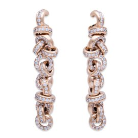 De Grisogono 18K Rose Gold Diamond Earrings