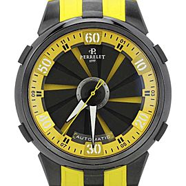 Perrelet Turbine Racing XL A1051/7 Black Dial Yellow Strap Mens Watch