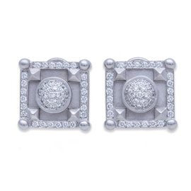 Kiselstein-Cord Platinum & 2.20ct Diamond Earrings