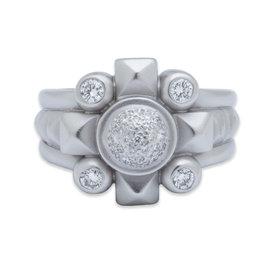 Kiselstein-Cord Platinum & 0.36ct Diamond Ring Sz 6