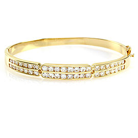 Ball 14K Yellow Gold Diamond Bracelet