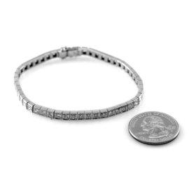 Estate Platinum Diamond Mens Bracelet