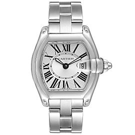 Cartier Roadster Silver Dial Small Steel Ladies Watch W62016V3