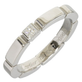 Cartier Mailon Panthere 18K White Gold Diamond Ring Size 4.25