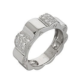 Chanel Profil de Camelia 18K White Gold Paved Diamond Ring Size 5