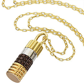 Boucheron 18K White Yellow & Rose Gold Necklace Pendant