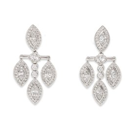 Michael Beaudry Platinum Diamond Earrings