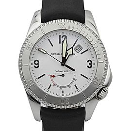 Girard Perregaux Sea Hawk II 4990 White Dial Rubber Strap Watch