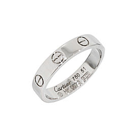 Cartier Mini Love 18K White Gold Size 5.75 Ring