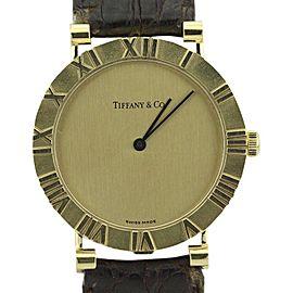 Tiffany & Co. Atlas D286753 18K Yellow Gold Quartz 31mm Unisex Watch