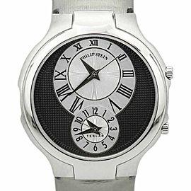 Philip Stein Dual Time TTF007802 Stainless Steel & Satin Quartz 38.5mm Unisex Watch