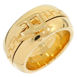 Boucheron Zipper 18K Yellow Gold Band Ring Size 5.5