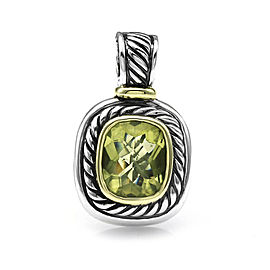David Yurman 925 Sterling Silver & 14K Yellow Gold Albion Peridot Pendant