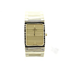 Omega 123 14K Yellow Gold Quartz 24mm x 34mm Unisex Watch