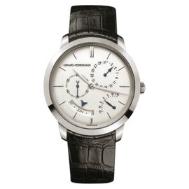 Girard Perregaux Vintage 1966 49538-53-133-BK6A 18K White Gold Annual Calendar Equation of Time 40mm Watch