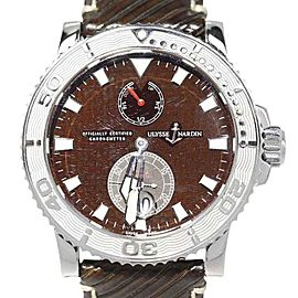 Ulysse Nardin Marine 263-33 Diver Brown Dial 43mm Mens Watch