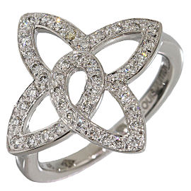 Louis Vuitton Bague Ardentes Fleur 18K White Gold with Diamond Ring Size 3