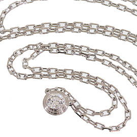 Cartier 18K White Gold Legers De Diamonds Necklace