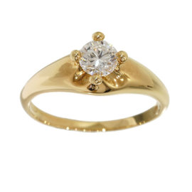 Bulgari Bvlgari 18K Yellow Gold 0.374ct Diamond Corona Ring Size 5