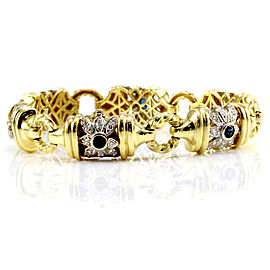 White Gold Sapphire, Diamond Womens Bracelet